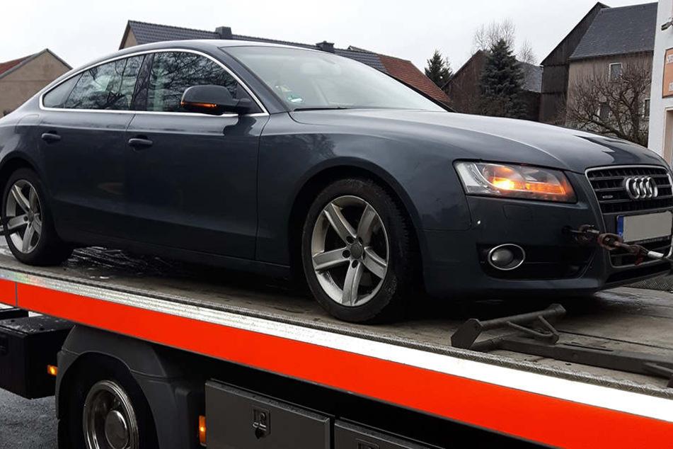 Der Audi wurde in Baden-Württemberg geklaut und tauchte nun im Vogtland wieder auf.