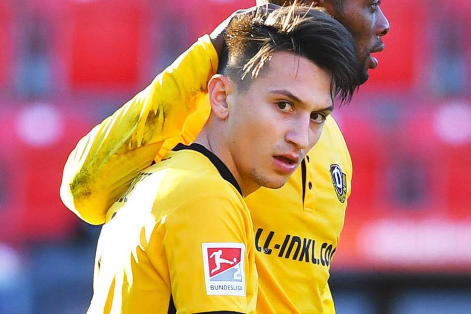 Dynamos Baris Atik wurde für seinen 1:6-Anschlusstreffer gegen den 1. FC Köln für das Tor des Monats November der Sportschau nominiert.