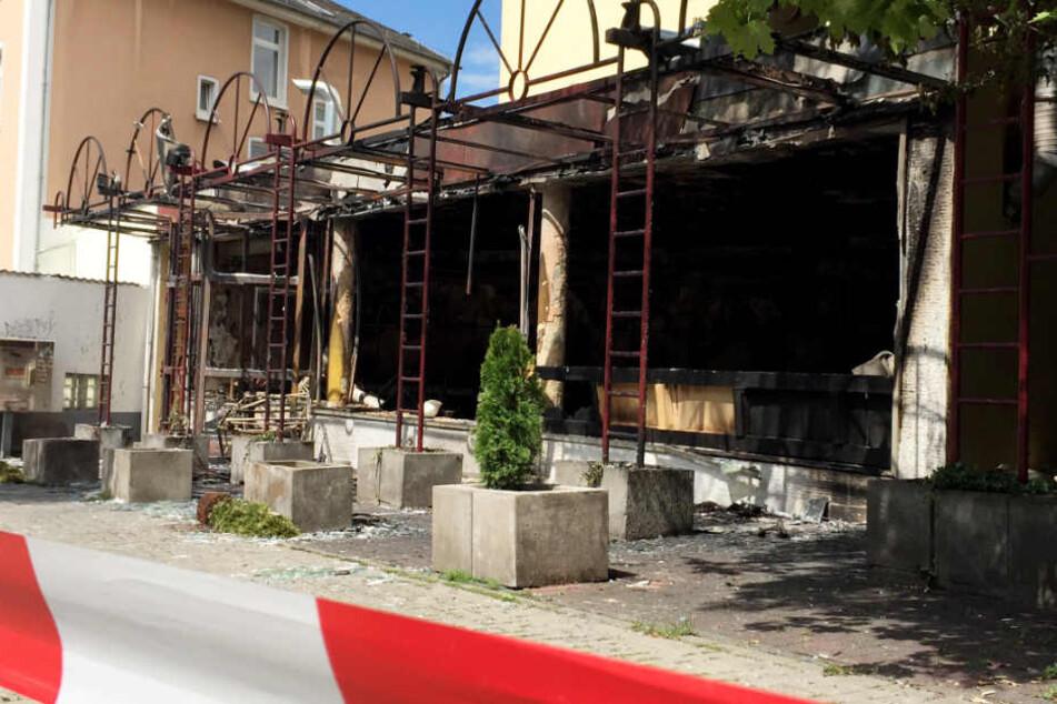 Die Shisha-Bar wurde durch den Anschlag komplett zerstört.