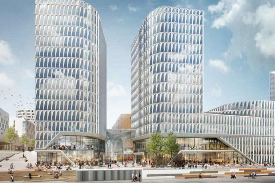 Hamburgs Milliarden-Projekt, das südliche Überseequartier in der Hafencity, liegt nach Angaben der Bauherren im Zeitplan.
