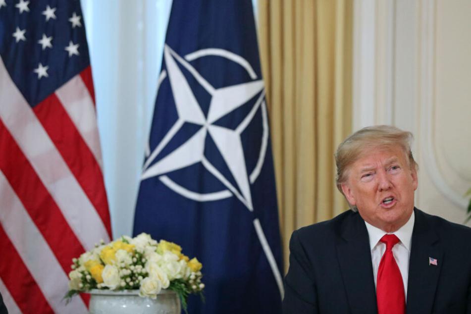 US-Präsident Donald Trump in der Residenz des Botschafters der Vereinigten Staaten von Amerika in Großbritannien.