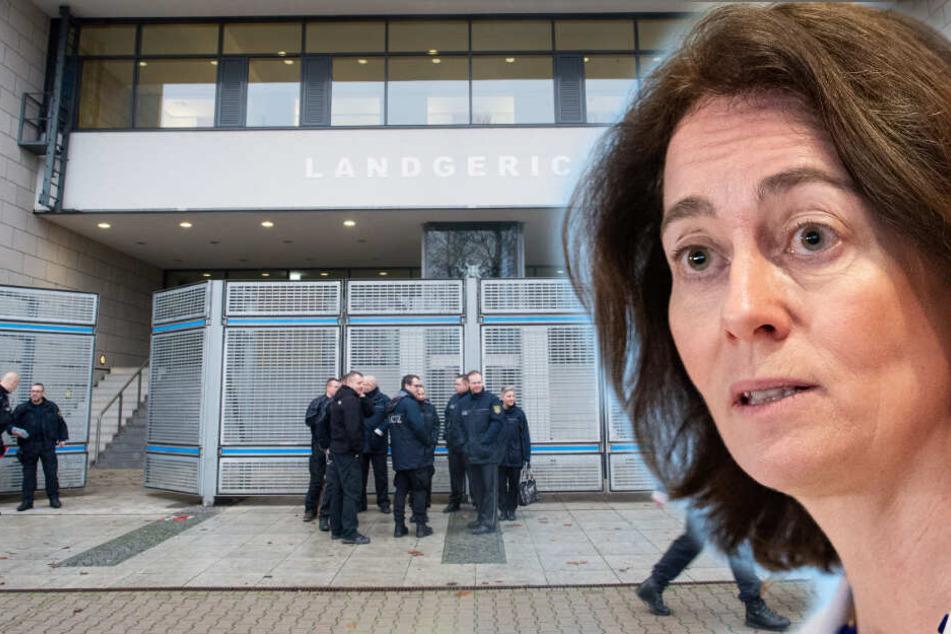 Barley verurteilt Drohungen gegen Landgerichte und Anschlag auf BGH-Außenstelle