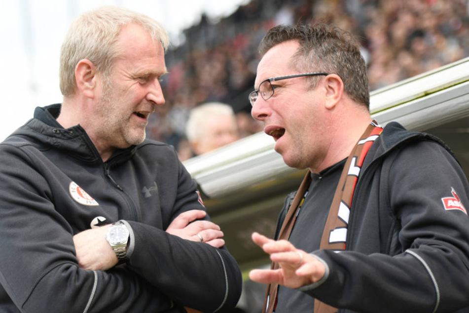 Sportchef Uwe Stöver (links) und Trainer Markus Kauczinski bilden ein erfolgreiches Duo beim Kiezclub.