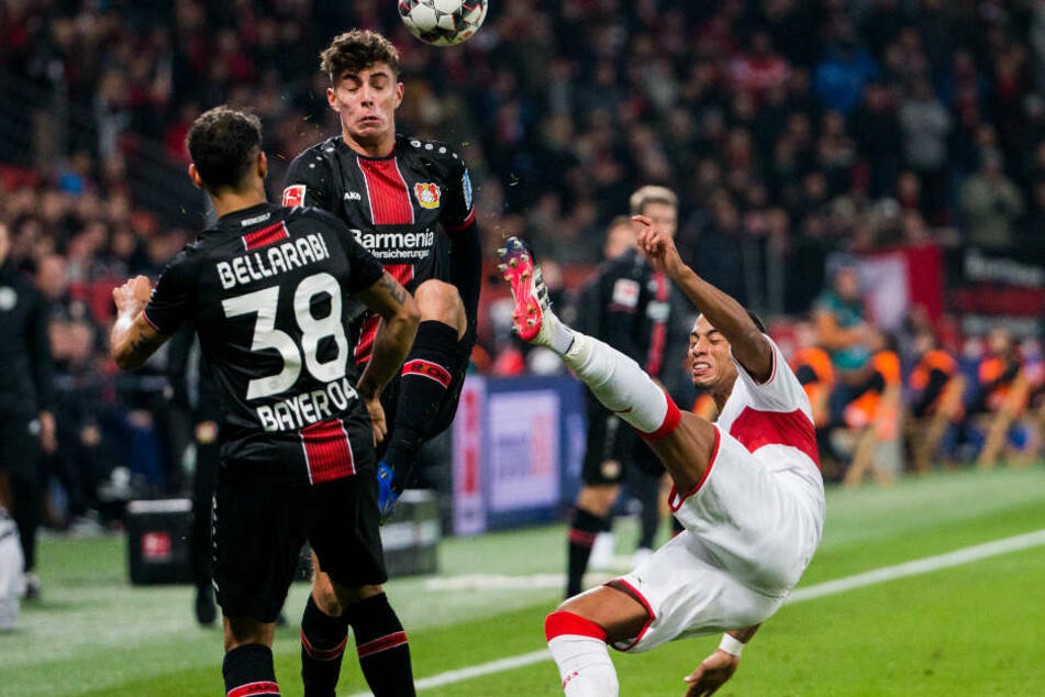 Es war eine kampfbetonte Begegnung zwischen Bayer Leverkusen und den VfB Stuttgart.