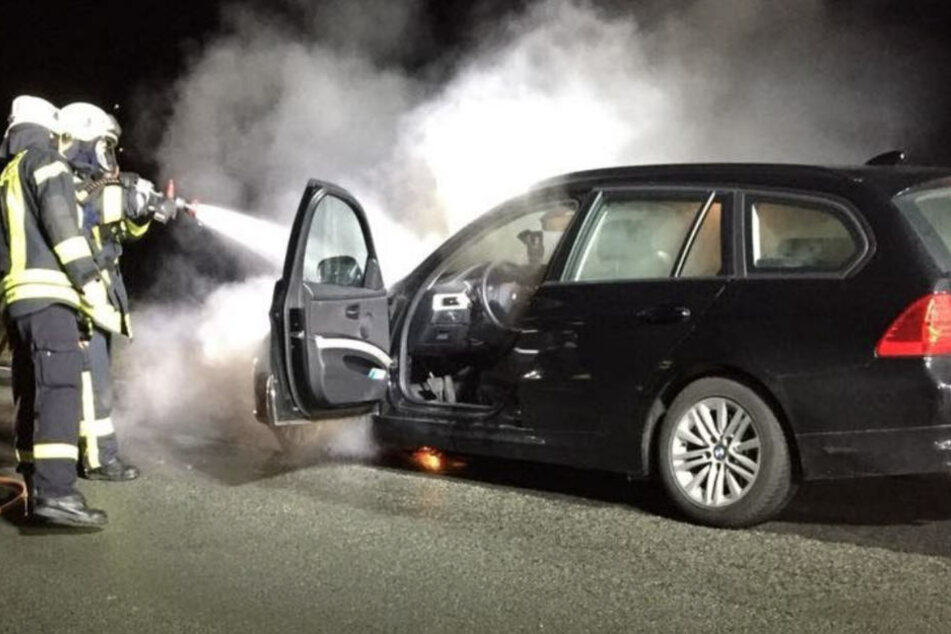 Der Motorraum brannte plötzlich lichterloh.