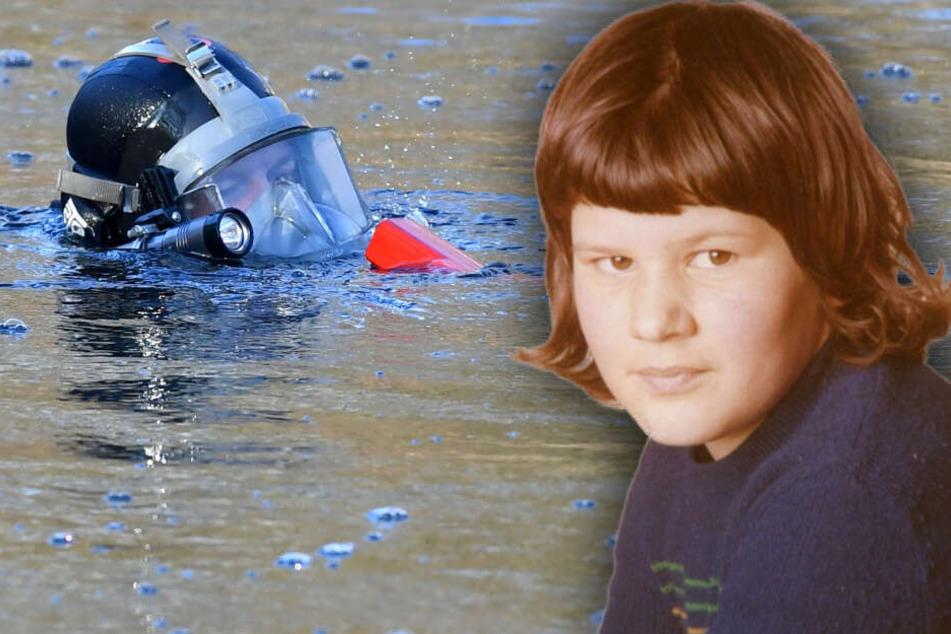 Die Polizei sucht mit Tauchern nach der Leiche von Monika Frischholz. (Bildmontage)