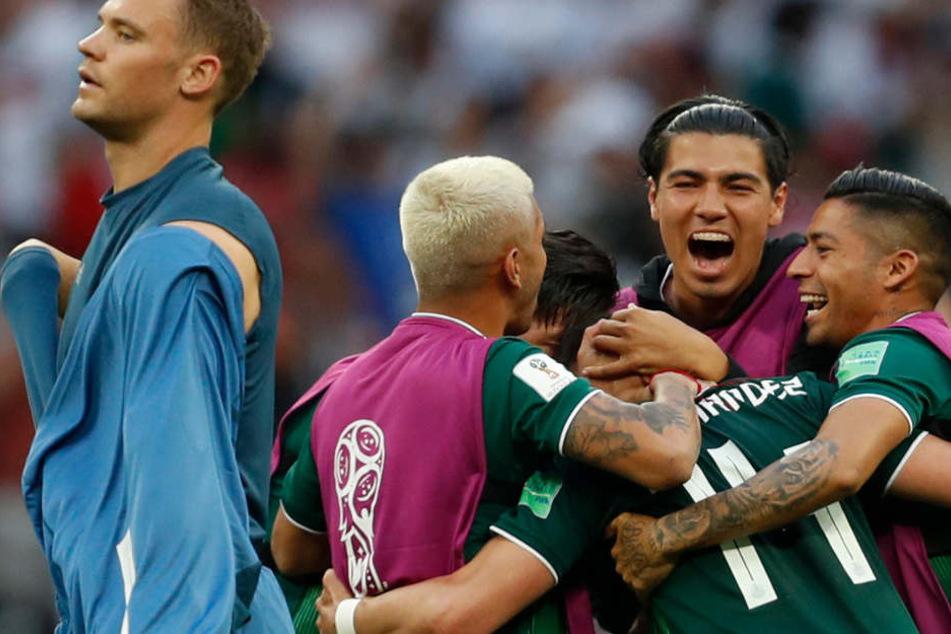 Der mexikanischen Mannschaft gelang zum Auftakt gegen Weltmeister Deutschland die große Überraschung.