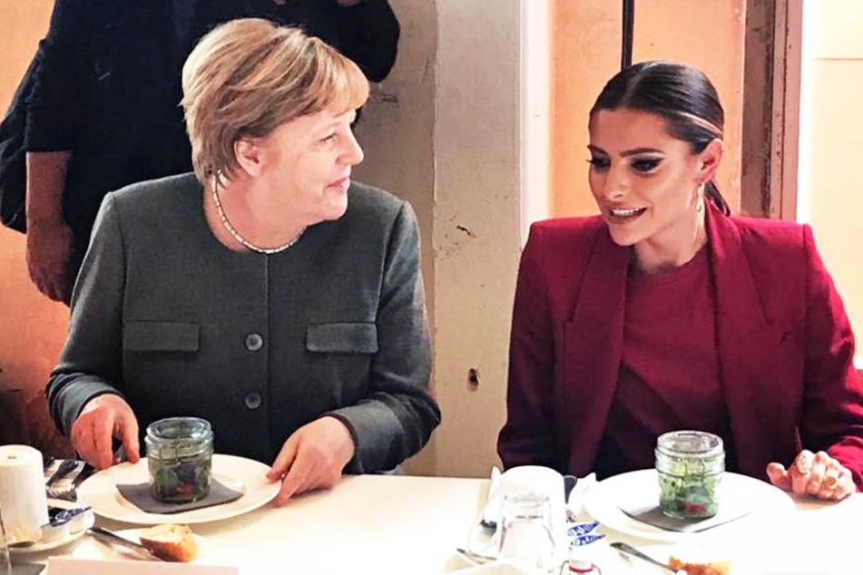 Diese Spitze gegen Sophia Thomalla konnte sich Angela Merkel nicht verkneifen