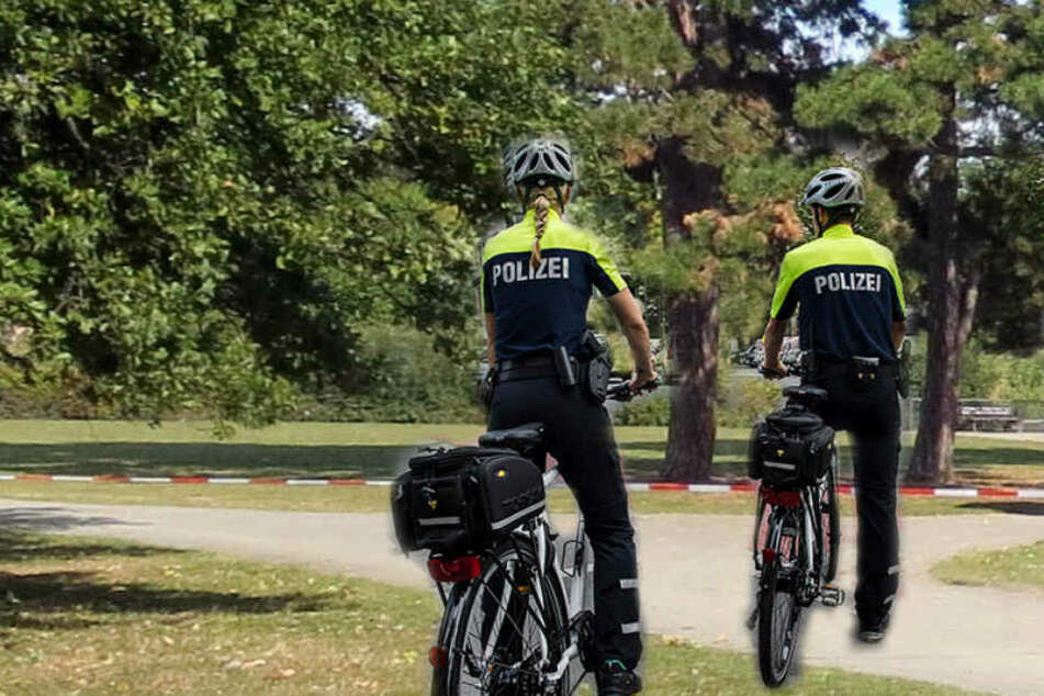 Eine Fahrradstaffel der Polizei griff Dienstagvormittag einen 34-jährigen Mann im Leipziger Rosental auf.