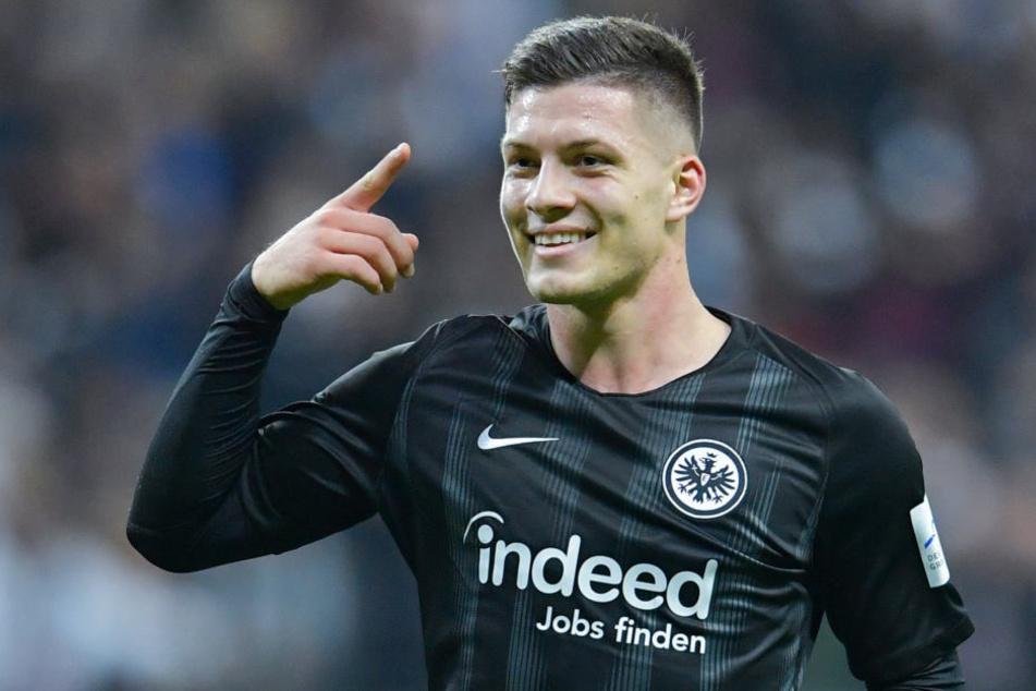 Erzielte gegen Düsseldorf einen sensationellen Fünferpack: Eintracht-Stürmer Luka Jovic.