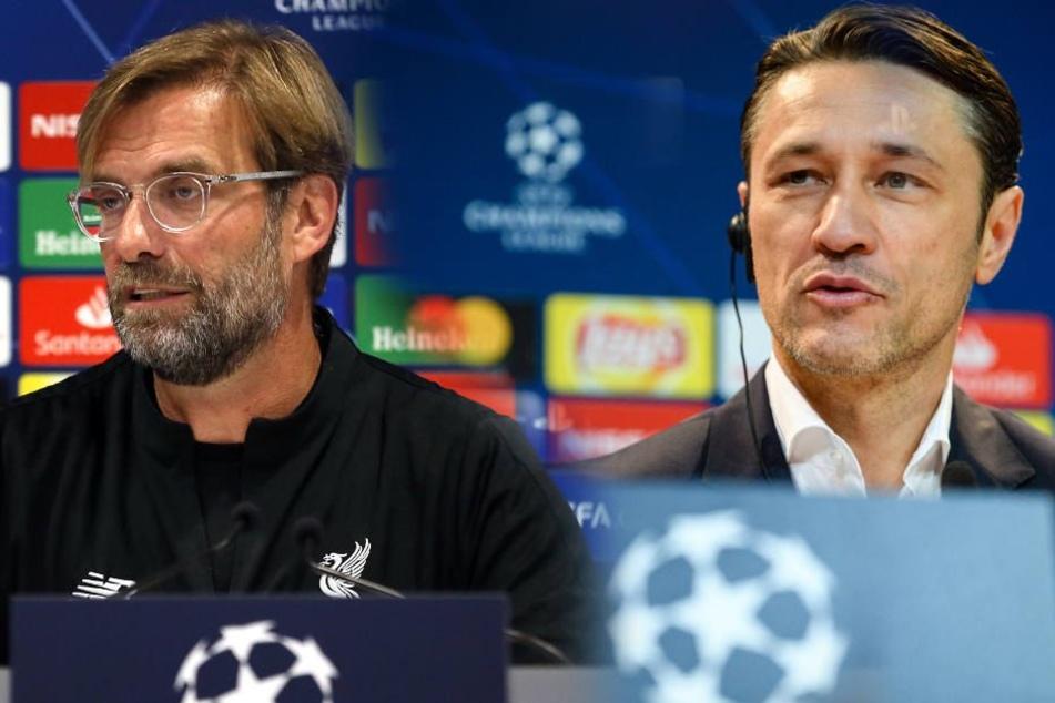 Der FC Bayern trifft mit Trainer Kovac im Achtelfinale auf das Team von Jürgen Klopp: den FC Liverpool. (Bildmontage)