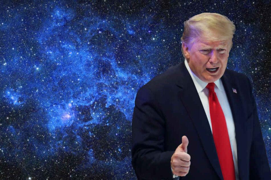 Darum lachen alle über das Logo von Donald Trumps neuer Weltraum-Armee