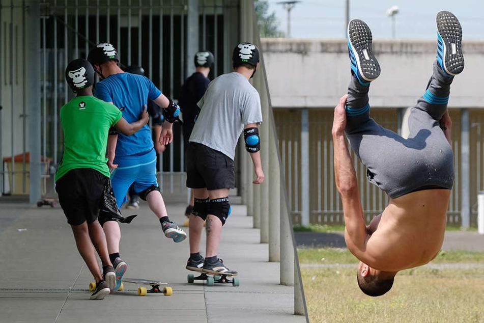 Skateboard und Parcours: Was geht denn in diesem Jugendknast ab?