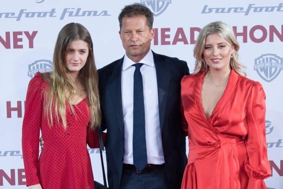 Til Schweiger ist umringt von seinen Töchtern Lilli (links) und Luna. (Archivbild)