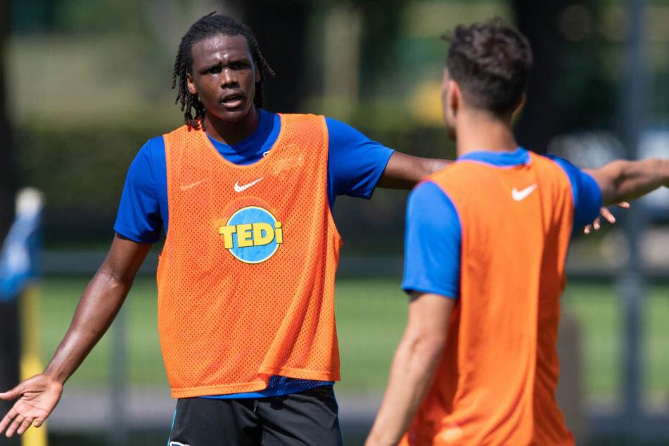 Neuzugang Dedryck Boyata beim Training von Hertha BSC.
