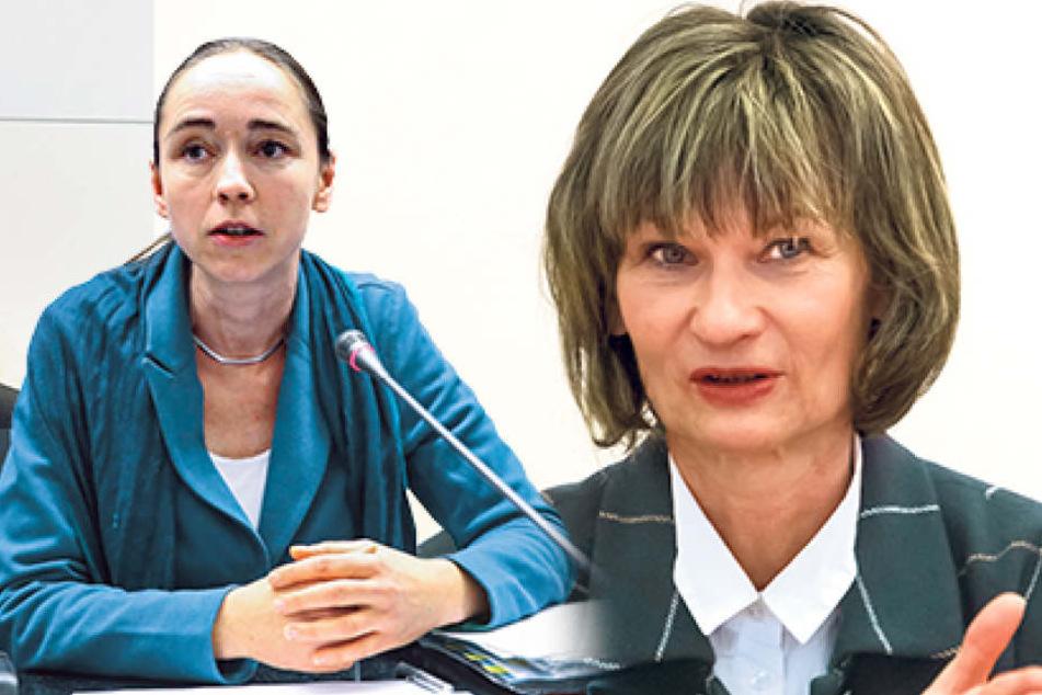 Die Dresdner Sozialbürgermeisterin Kristin Kaufmann (l., 41, Linke). Die Chemnitzer Oberbürgermeisterin Barbara Ludwig (56, SPD).