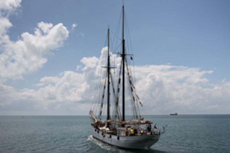 """Das Frachtschiff """"Avontuur"""" brachte den Kakao vom mittelamerikanischen Belize in den Hamburger Hafen."""