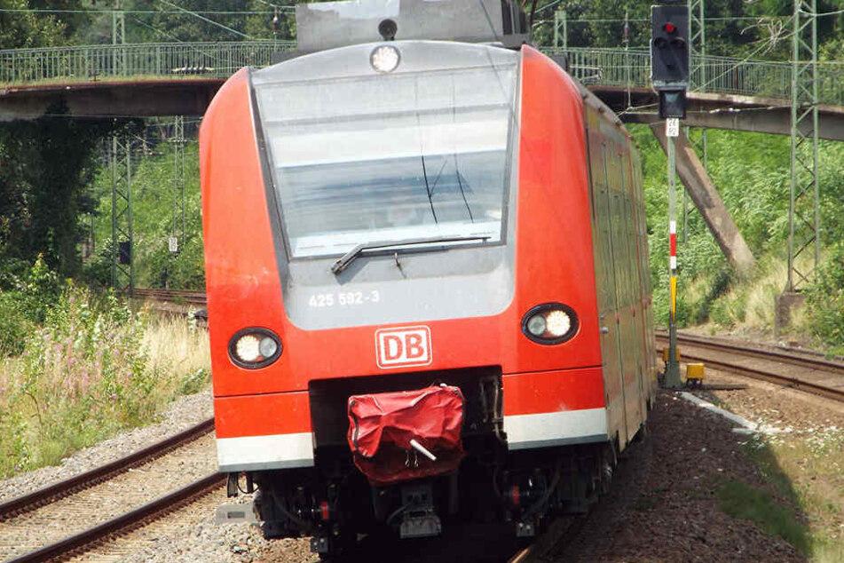 Glücklicherweise war die Regionalbahn schon langsamer unterwegs, weil sie in den Bahnhof einfuhr. (Symbolbild)