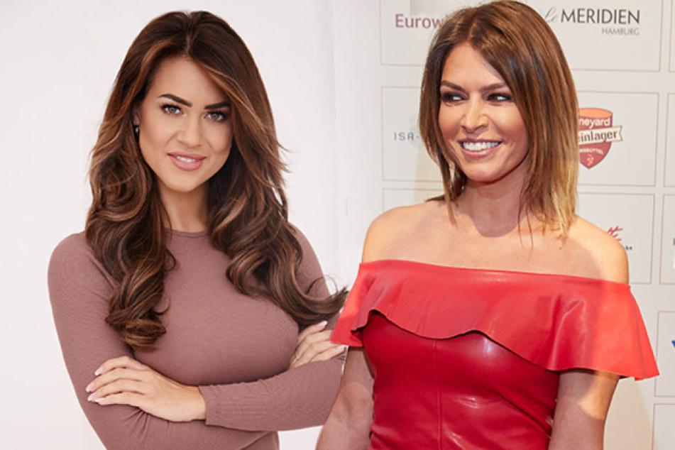 Tritt Sabia Boulahrouz (39, l.) jetzt etwa in die Fußstapfen von Jessica Paszka (27).