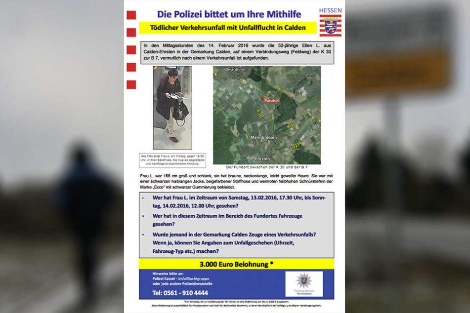 Mit diesem Flyer sucht die Polizei nach Zeugen.