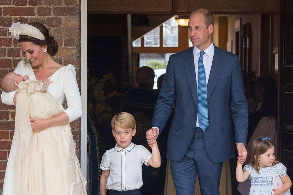 Prinz William mit seiner Frau Kate Middleton und seinen drei Kindern.