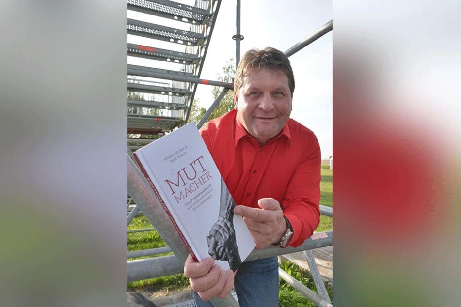 """Die Unternehmer Dirk Eckart (51, im Bild) und Walter Stuber (56) reisen mit ihrem """"Mutmacher"""" in die USA."""
