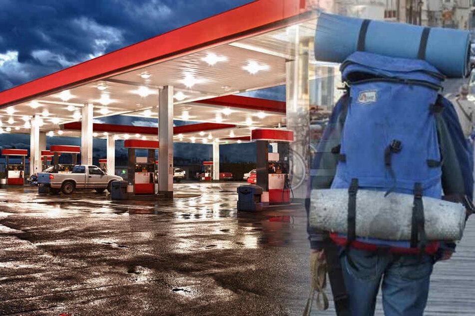 Der Obdachlose erzählte einer Tankstellen-Mitarbeiterin von dem Sprengstoff.