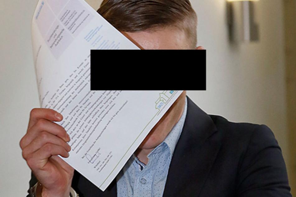Martin F. (21) schwieg am Montag vor Gericht.