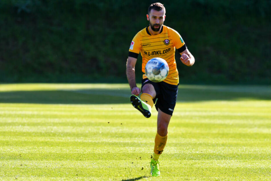 Josef Husbauer ist einer der neuen Hoffungsträger bei Dynamo. Allerdings fehlte der Tscheche bei der Generalprobe in Stuttgart.