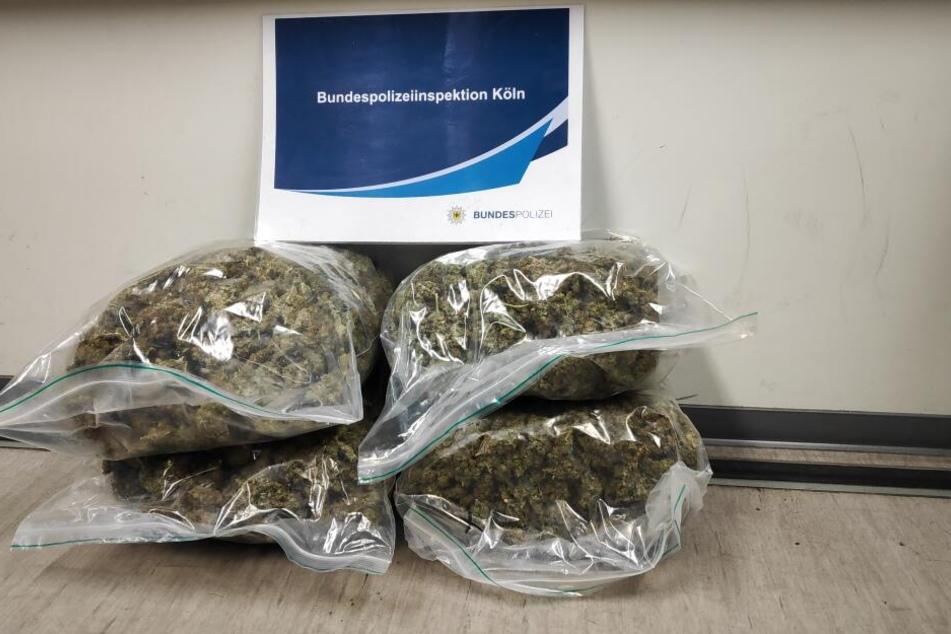 Die vier Kilo Drogen wurden beschlagnahmt.