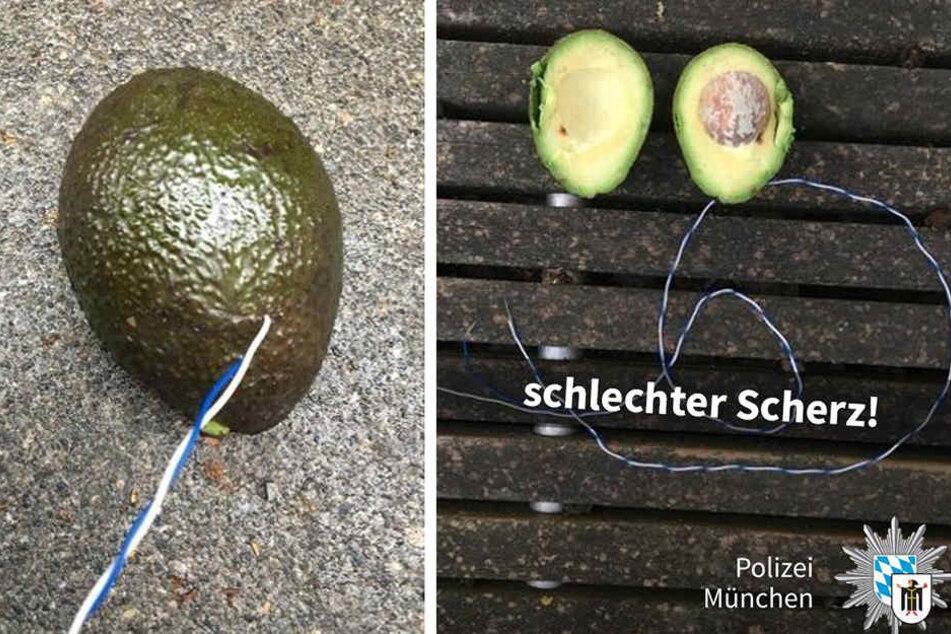 Sah aus wie eine Bombe: die präparierte Avocado aus dem Münchner Discounter