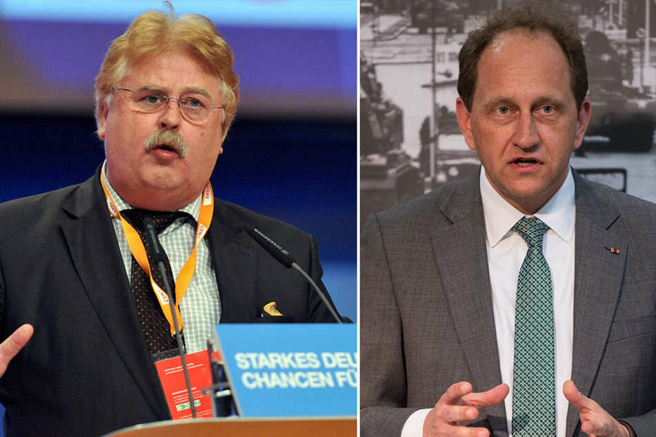 Elmar Brok (CDU) plädierte nur bei Wiedereinführung der Todesstrafe abzubrechen. Alexander Graf Lambsdorff (FDP, r.) fordert ein Ende der Beitrittsverhandlungen.