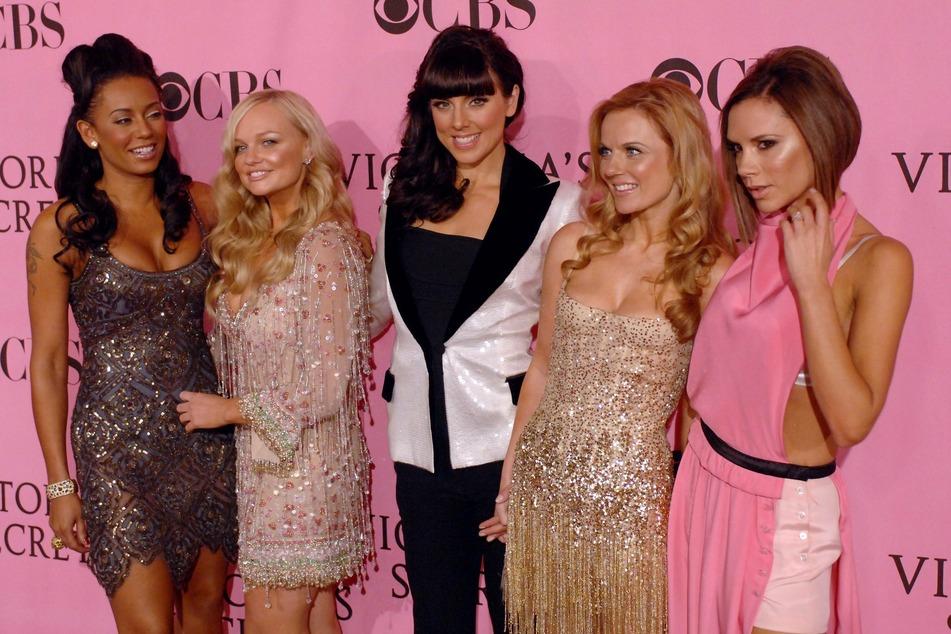 Melanie Brown (from l. to r.),Emma Bunton, Melanie Chisholm, Geri Horner and Victoria Beckham.