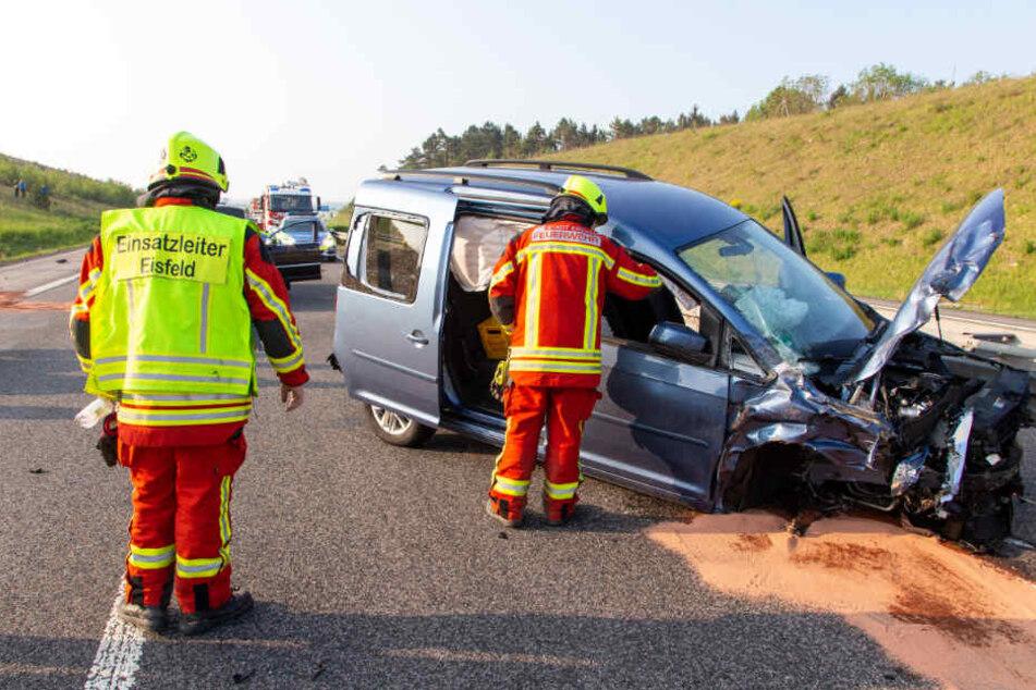 Der Caddy soll den Unfall ausgelöst haben.