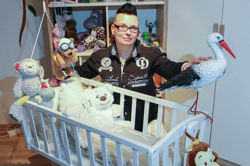 Monique Bauer-Bachmann hat schon ein Kinderzimmer für ihr Wunschkind eingerichtet.