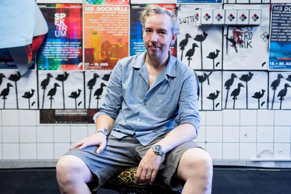Olli Schulz trat am Sonntag auf dem Dockville-Festival in Hamburg auf.
