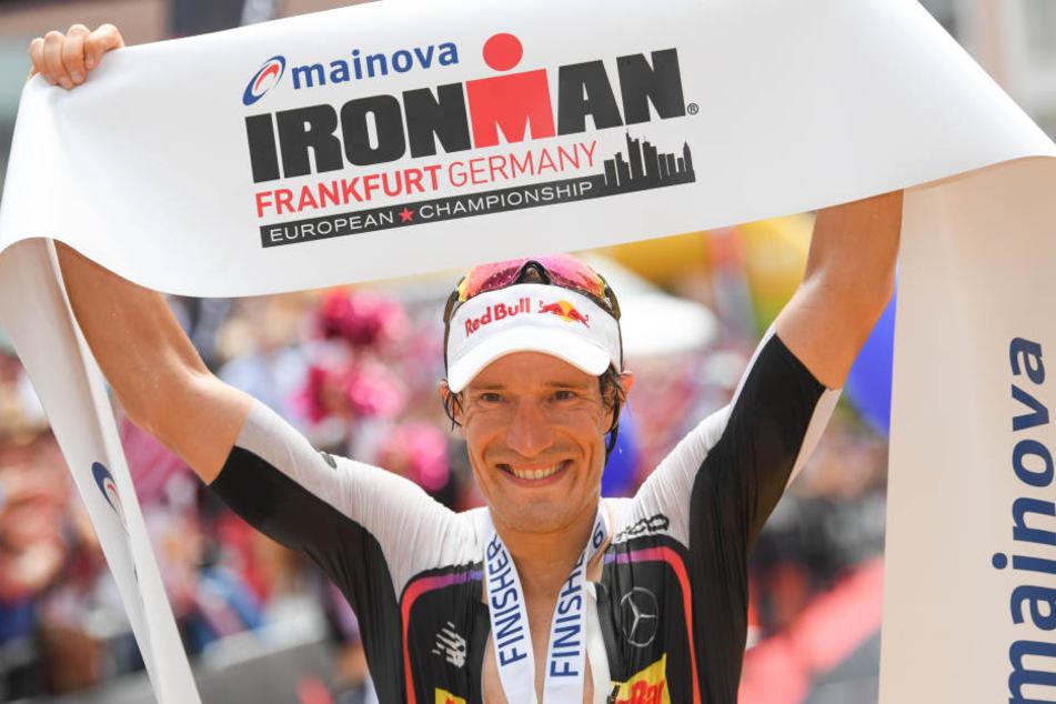 Der 33-Jährige gewann bereits zum dritten Mal den Ironman-Europameister in Frankfurt am Main.
