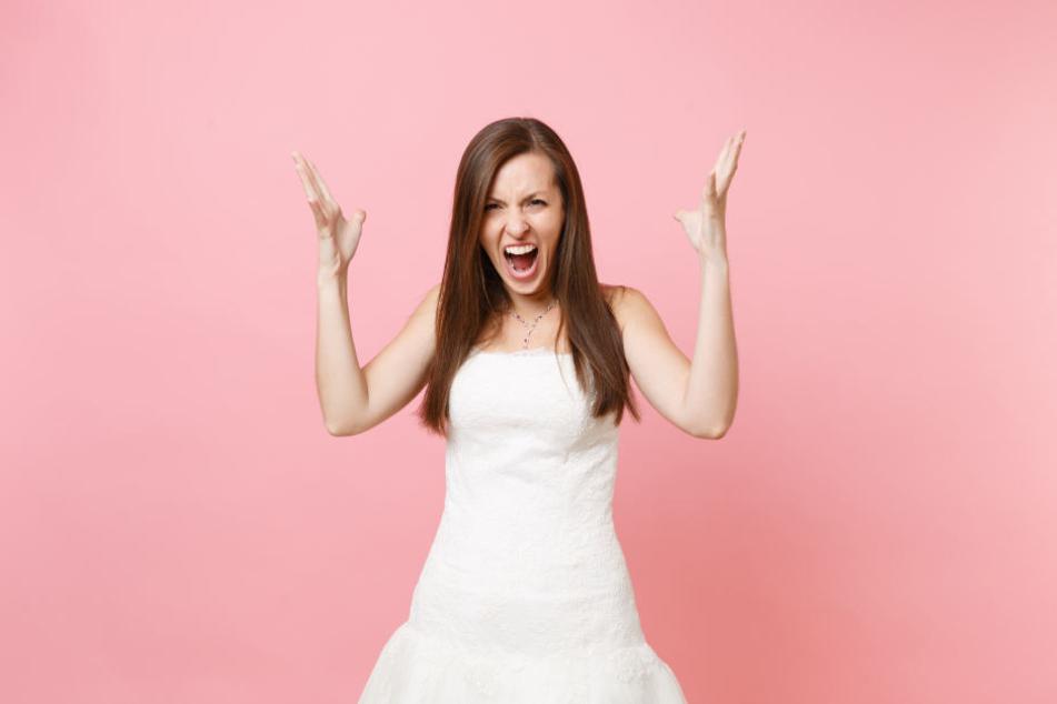 """Die Braut wurde im Netz """"Bridezilla"""" getauft - eine Mischung aus """"Bride""""und """"Godzilla""""."""