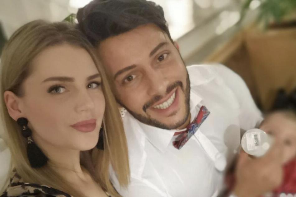 Der Italiener mit seiner Freundin Julia und der gemeinsamen Tochter Lia-Noelia.