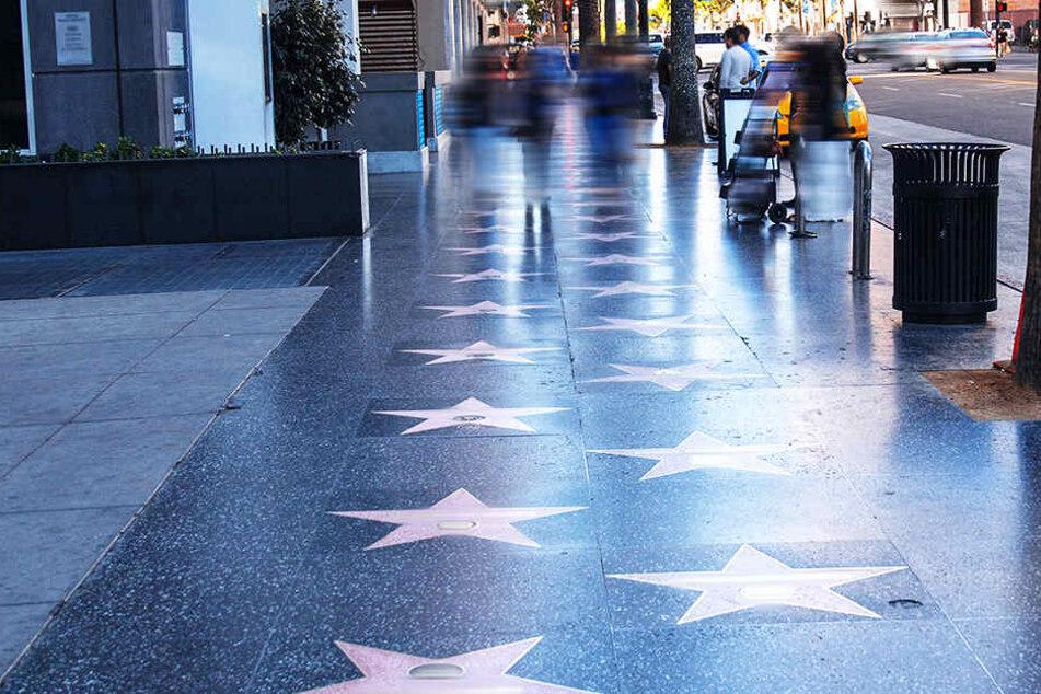 """Der """"Walk of Fame"""" in der US-amerikanischen Millionenmetropole Los Angeles ist die Straße des Ruhmes für Künstler."""