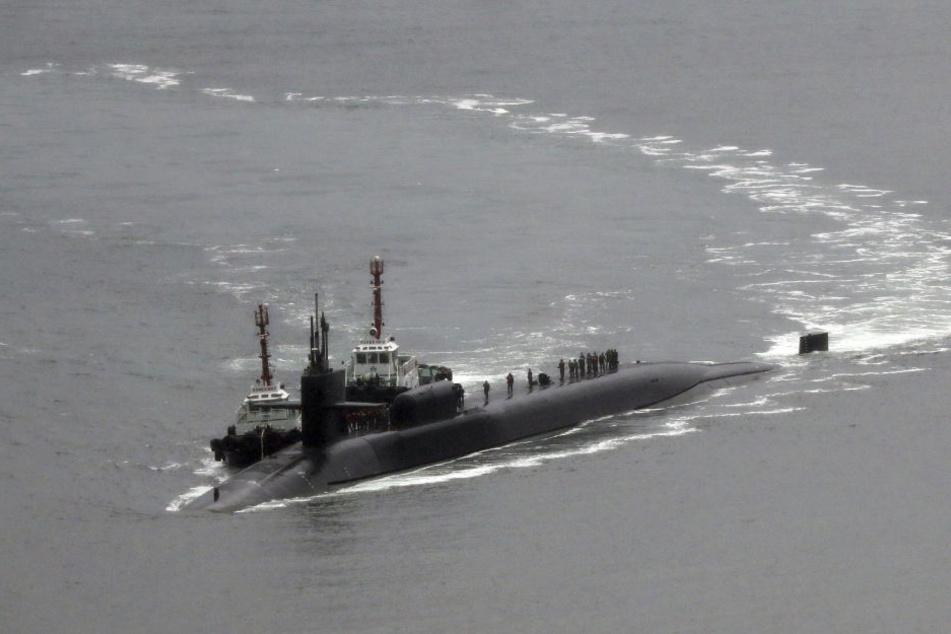 Ein atomgetriebenes Raketen-U-Boot der USA legt jetzt in Südkorea an.