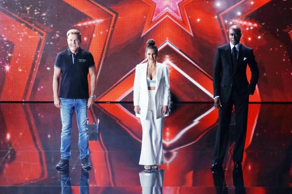 """Dieter Bohlen, Sarah Lombardi und Bruce Darnell bilden die Jury von """"Das Supertalent""""."""