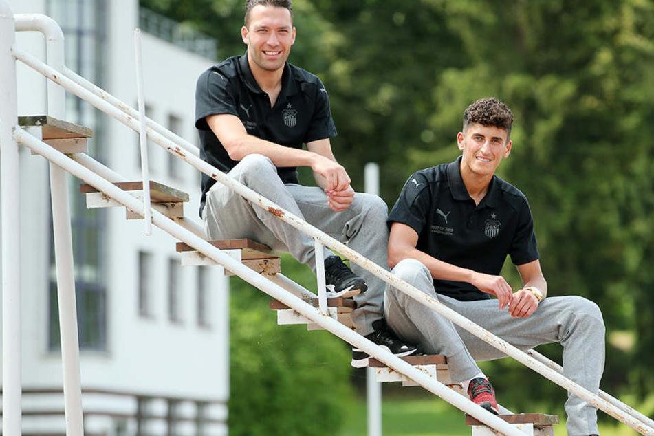 Aykut Öztürk (l.) und Ali Odabas haben beim und mit dem FSV in dieser Saison einiges vor.
