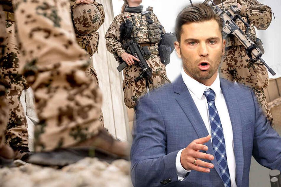 Jan Ralf Nolte (29, AfD) macht sich über den Zustand der Bundeswehr Gedanken.