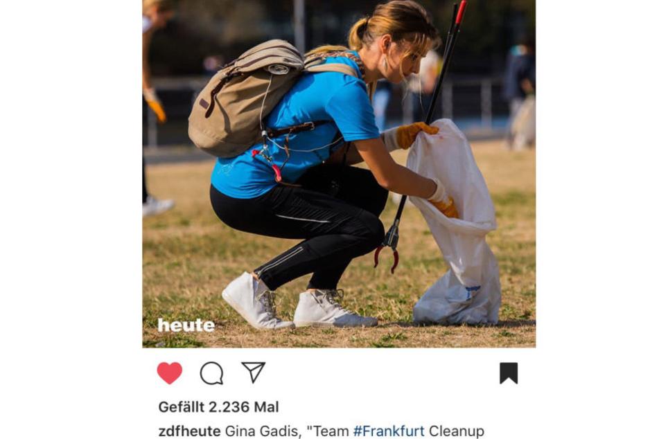 Gina sammelte Müll beim World Cleanup Day