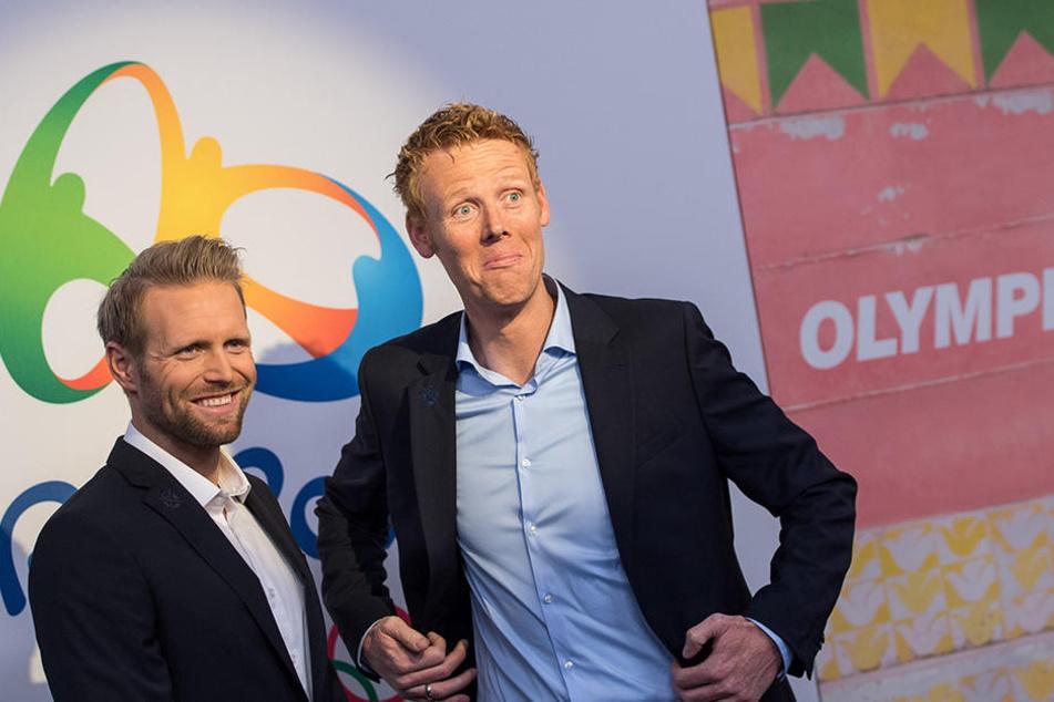 Julius Brink (l.) und Jonas Reckermann wurden im Finale 2012 gegen die favorisierten Brasilianer zu Helden und holten das erste deutsche Olympia-Gold im Beachvolleyball.