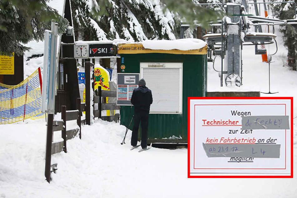 Technischer Defekt! Himmelsleiter am Fichtelberg außer Betrieb