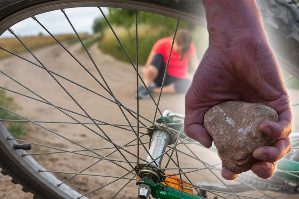 Unbekannte bewerfen Kind (9) auf Fahrrad mit Steinen: Schwer verletzt!