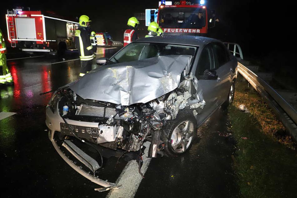 Insgesamt waren fünf Fahrzeuge an dem Unfall beteiligt.
