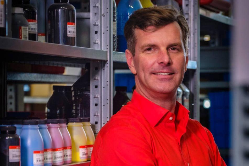 Octopus-Chef Gunther Lange (47) hofft, dass er mit der Wahltinte ein neues Geschäftsfeld für seine Firma erschließen kann.